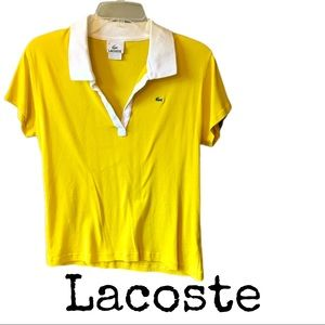 Lacoste Womens Yellow Polo Size 46.